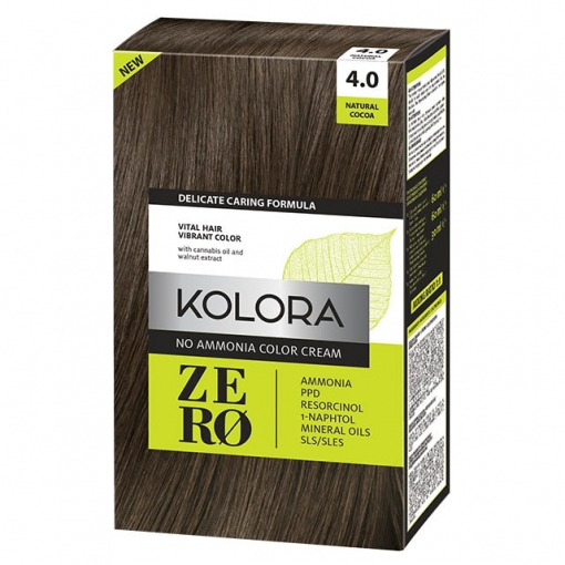 Kolora Zero 4.0 prirodno smeđa farba za kosu bez amonijaka