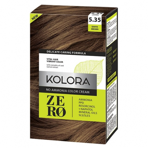 Kolora Zero 5.35 Earth Brown farba za kosu bez amonijaka
